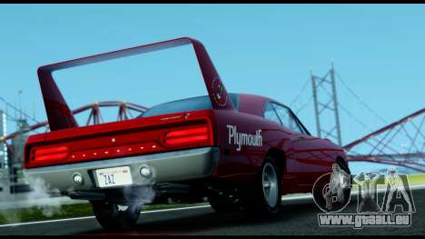 Plymouth Roadrunner Superbird RM23 1970 IVF pour GTA San Andreas