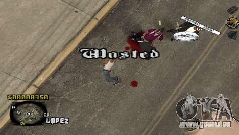 C-HUD Sigara pour GTA San Andreas troisième écran