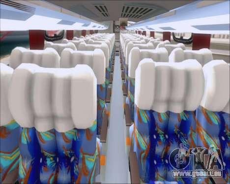 Busscar Vissta Buss LO Pullman Sur für GTA San Andreas Innenansicht