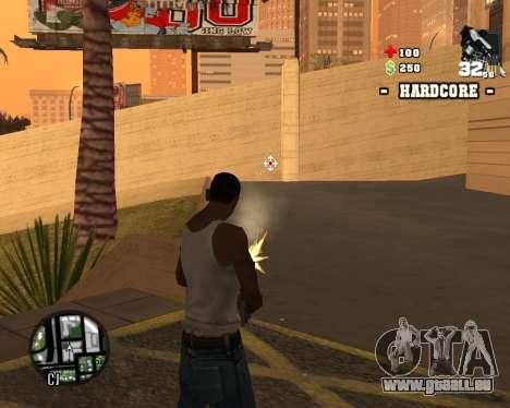 C-HUD Hardcore pour GTA San Andreas troisième écran