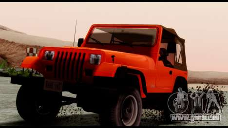 Jeep Wrangler für GTA San Andreas rechten Ansicht