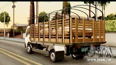 Toyota Dyna Truck Hog Dealer pour GTA San Andreas laissé vue