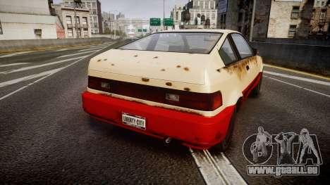 Dinka Blista Compact Beater pour GTA 4 Vue arrière de la gauche