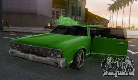 Sabre Limousine für GTA San Andreas Rückansicht
