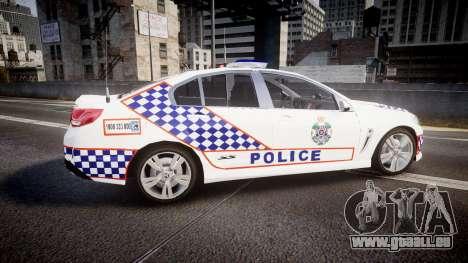 Holden VF Commodore SS Queensland Police [ELS] für GTA 4 linke Ansicht