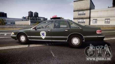 Chevrolet Caprice 1993 Detroit Police pour GTA 4 est une gauche