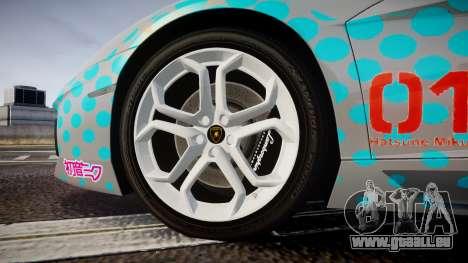 Lamborghini Aventador 2012 [EPM] Miku 3 pour GTA 4 Vue arrière
