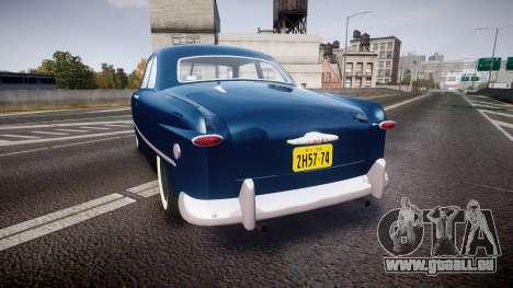 Ford Custom Club 1949 pour GTA 4 Vue arrière de la gauche
