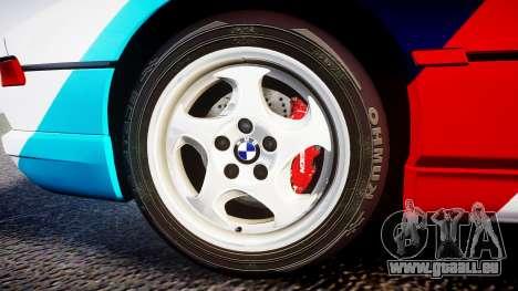 BMW E31 850CSi 1995 [EPM] Castrol White für GTA 4 Rückansicht