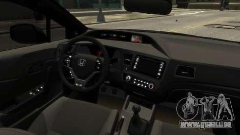 Honda Civic Si 2013 v1.0 pour GTA 4 Vue arrière