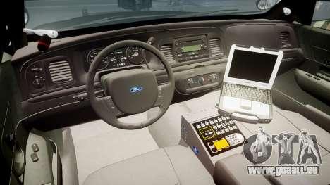 Ford Crown Victoria 2011 LASD [ELS] für GTA 4 Rückansicht