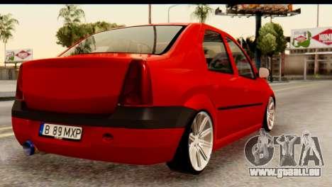 Dacia Logan MXP für GTA San Andreas linke Ansicht