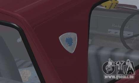 Reliant Regal Sedan für GTA San Andreas Innenansicht