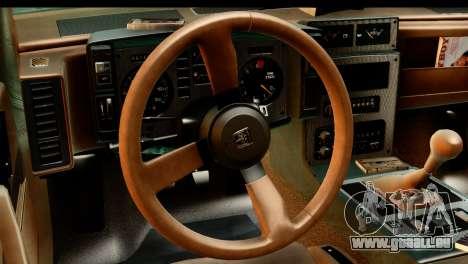 Pontiac Fiero GT G97 1985 HQLM pour GTA San Andreas vue de droite