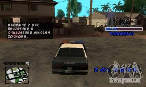 FBI C-HUD pour GTA San Andreas quatrième écran