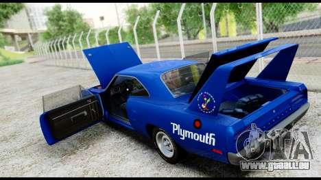 Plymouth Roadrunner Superbird RM23 1970 IVF für GTA San Andreas Seitenansicht