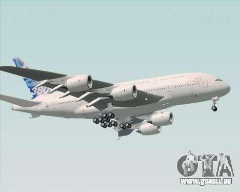 Airbus A380-800 F-WWDD Etihad Titles pour GTA San Andreas laissé vue