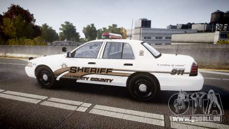 Ford Crown Victoria LCSO [ELS] MX7000 für GTA 4 linke Ansicht
