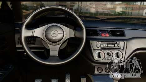 Mitsubishi Outlander für GTA San Andreas zurück linke Ansicht