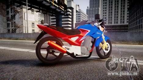 Honda Twister 2014 pour GTA 4 est une gauche