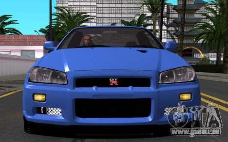 Nissan Skyline GT-R V Spec II 2002 für GTA San Andreas Seitenansicht