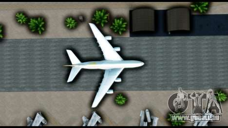 Airbus A380-800 Etihad New Livery pour GTA San Andreas vue arrière