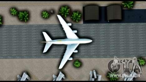 Airbus A380-800 Etihad New Livery für GTA San Andreas Rückansicht