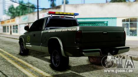 Dodge Dakota National Guard Base Police für GTA San Andreas linke Ansicht