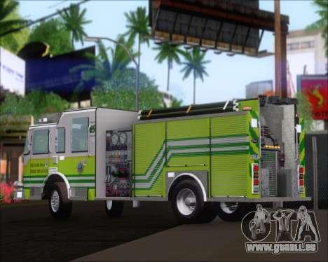 Pierce Arrow XT Miami Dade FD Engine 45 pour GTA San Andreas vue arrière