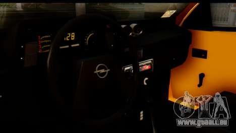 Opel Kadett GSI Drag 2015 pour GTA San Andreas sur la vue arrière gauche