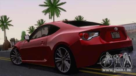 Toyota GT86 (ZN6) 2012 pour GTA San Andreas vue de droite