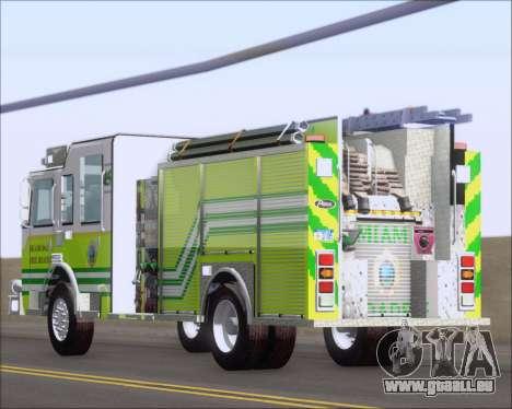 Pierce Arrow XT Miami Dade FD Engine 45 pour GTA San Andreas vue de côté