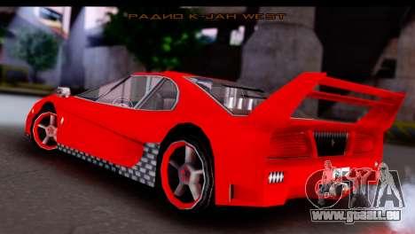 Turismo Pro X pour GTA San Andreas laissé vue