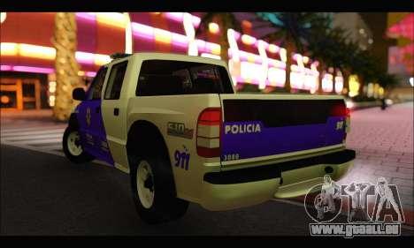 Chevrolet S-10 Policia de Santa Fe für GTA San Andreas linke Ansicht