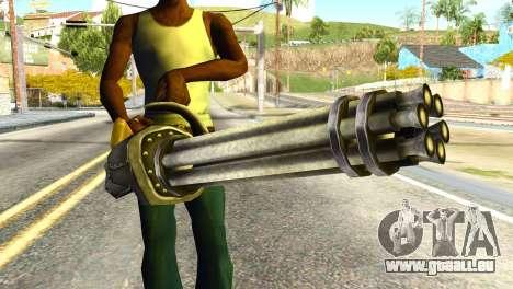 Minigun from Redneck Kentucky pour GTA San Andreas troisième écran
