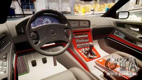 BMW E31 850CSi 1995 [EPM] Carbon pour GTA 4 est une vue de l'intérieur