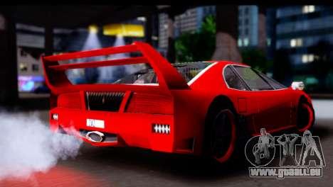 Turismo Pro X pour GTA San Andreas vue de droite