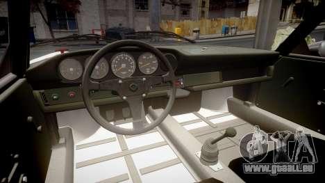 Porsche 911 Carrera RSR 3.0 1974 PJ210 pour GTA 4 est une vue de l'intérieur