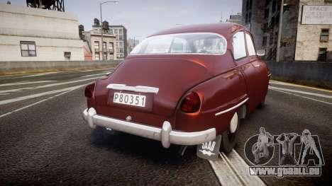 Saab 96 für GTA 4 hinten links Ansicht