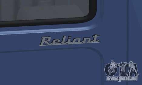Reliant Supervan III pour GTA San Andreas vue de dessus