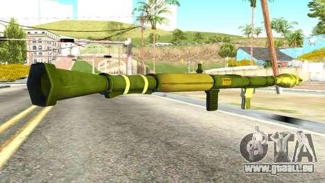 Rocket Launcher from GTA 5 pour GTA San Andreas deuxième écran