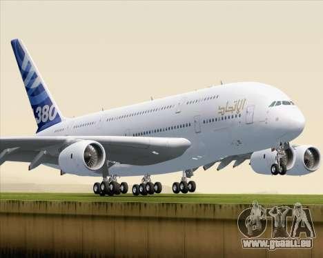 Airbus A380-800 F-WWDD Etihad Titles pour GTA San Andreas
