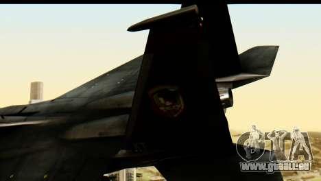 F-15 Razgriz für GTA San Andreas zurück linke Ansicht