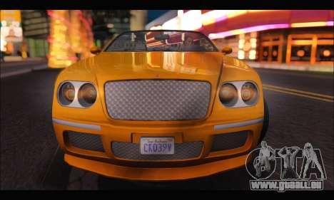 Enus Cognoscenti Cabrio (GTA V) (IVF) für GTA San Andreas rechten Ansicht