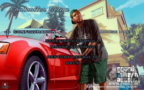 GTA 5 Menu pour GTA San Andreas quatrième écran