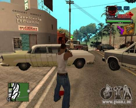 C-HUD Tawer Ghetto für GTA San Andreas dritten Screenshot