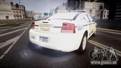 Dodge Charger 2006 Alderney Police [ELS] pour GTA 4 Vue arrière de la gauche