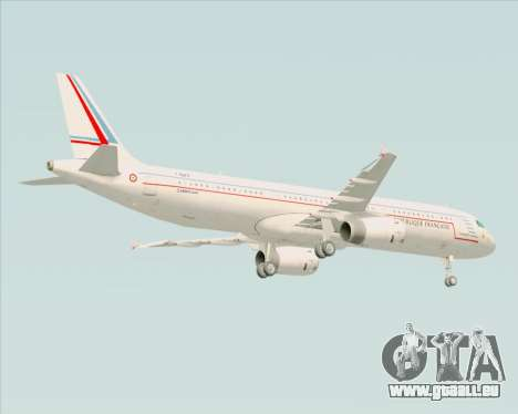 Airbus A321-200 French Government für GTA San Andreas Rückansicht