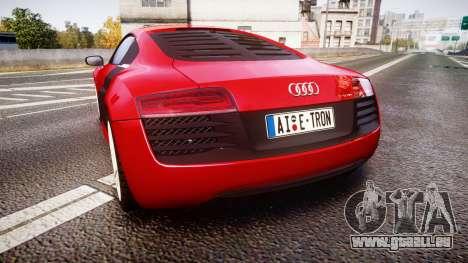 Audi R8 E-Tron 2014 für GTA 4 hinten links Ansicht