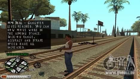 C-HUD Wonderful pour GTA San Andreas quatrième écran